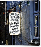 The Old Pilchard Press Acrylic Print