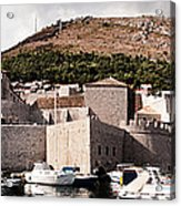 The Old Port Under The Ramparts Acrylic Print