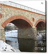 The Old Railway Bridge In Silute. Lithuania. Winter Acrylic Print