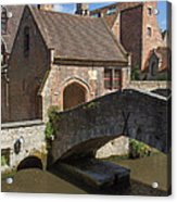 The Old Stone Bridge In Bruges Acrylic Print