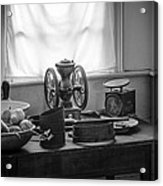 The Old Table By The Window - Wonderful Memories Of The Past - 19th Century Table And Window Acrylic Print by Gary Heller