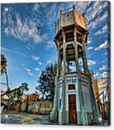 The Old Water Tower Of Tel Aviv Acrylic Print by Ron Shoshani