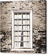 The Old Window Acrylic Print by Olivier Le Queinec