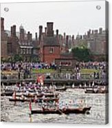 The Olympic Torch Leaves Hampton Court On The Final Leg Of Its J Acrylic Print