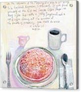 The Optimism Of Breakfast Acrylic Print