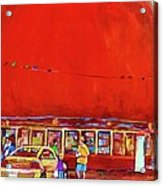 The Orange Julep Montreal Summer City Scene Acrylic Print