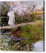 The Orchard Brook  Acrylic Print