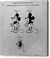 The Original Mickey Mouse Patent Design Acrylic Print