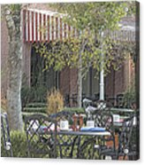The Outdoor Cafe Acrylic Print