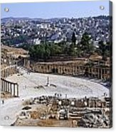 The Oval Plaza At Jerash In Jordan Acrylic Print