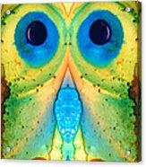 The Owl - Abstract Bird Art By Sharon Cummings Acrylic Print
