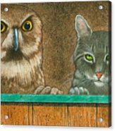 The Owl And The Pussycat... Acrylic Print