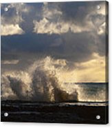 The Pacific Calms Down Acrylic Print
