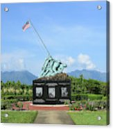 The Pacific War Memorial On Marine Acrylic Print