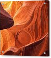 The Painted Rocks Of Lower Antelope Canyon Acrylic Print