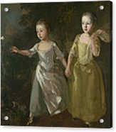 The Painter's Daughters Chasing A Butterfly Acrylic Print