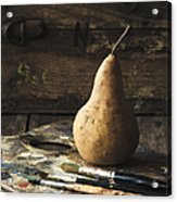 The Painter's Pear Acrylic Print by Amy Weiss