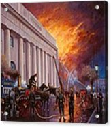 The Pantechnicon Fire. 1874. Acrylic Print