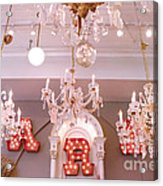The Paris Market - Savannah Georgia Paris Market - Paris Market Shoppe - Paris Brocante Chandeliers Acrylic Print by Kathy Fornal