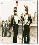The Parisian Municipale Guard, Formed 29th July 1830 Coloured Engraving Acrylic Print