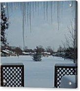 The Patio In Winter Acrylic Print