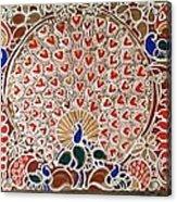 The Peacock Dance Acrylic Print