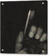 The Pencil Acrylic Print by Bob RL Evans