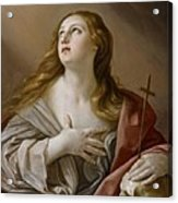 The Penitent Magdalene Acrylic Print by Guido Reni