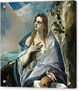 The Penitent Mary Magdalene Acrylic Print