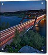 The Pennybacker Bridge At Twilight Acrylic Print