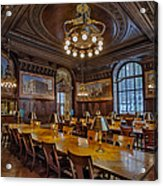 The Periodical Room At The New York Public Library Acrylic Print by Susan Candelario
