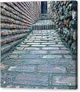 The Perspective Of Bricks Acrylic Print