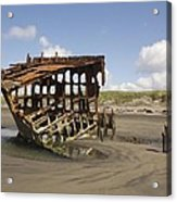 The Peter Iredale Shipwreck 2 Color Acrylic Print