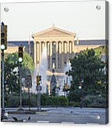 The Philadelphia Art Museum From The Parkway Acrylic Print
