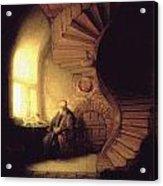 The Philosopher In Meditation Acrylic Print