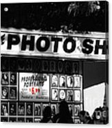 The Photo Shop Acrylic Print by Cheryl Young