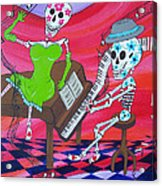 The Pianist Day Of The Dead Acrylic Print