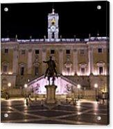 The Piazza Del Campidoglio At Night Acrylic Print
