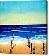 The Picket Beach Acrylic Print