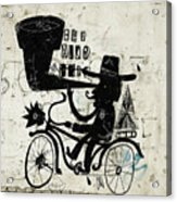 The Picture Shows A Man Who Rides A Acrylic Print