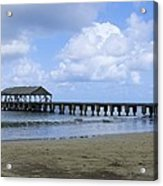 The Pier At Hanalei Acrylic Print