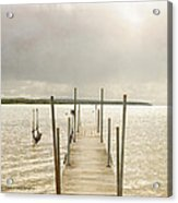 The Pier Acrylic Print by Beverly Cazzell