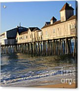 The Pier Acrylic Print by Michael Mooney