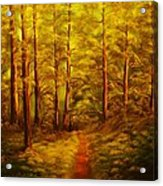 The Pine Tree Forest-original Sold-buy Giclee Print Nr 34 Of Limited Edition Of 40 Prints  Acrylic Print