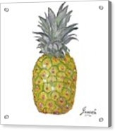 The Pineapple On White Acrylic Print