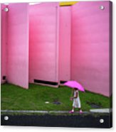 The Pink Color World Acrylic Print