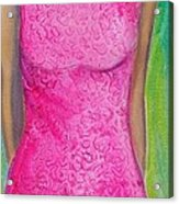 The Pink Dress Acrylic Print