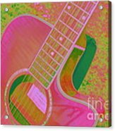 My Pink Guitar Pop Art Acrylic Print