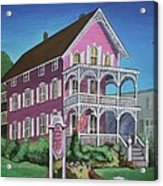 The Pink House In Cape May Acrylic Print