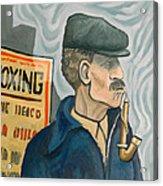 The Pipe Smoker Acrylic Print